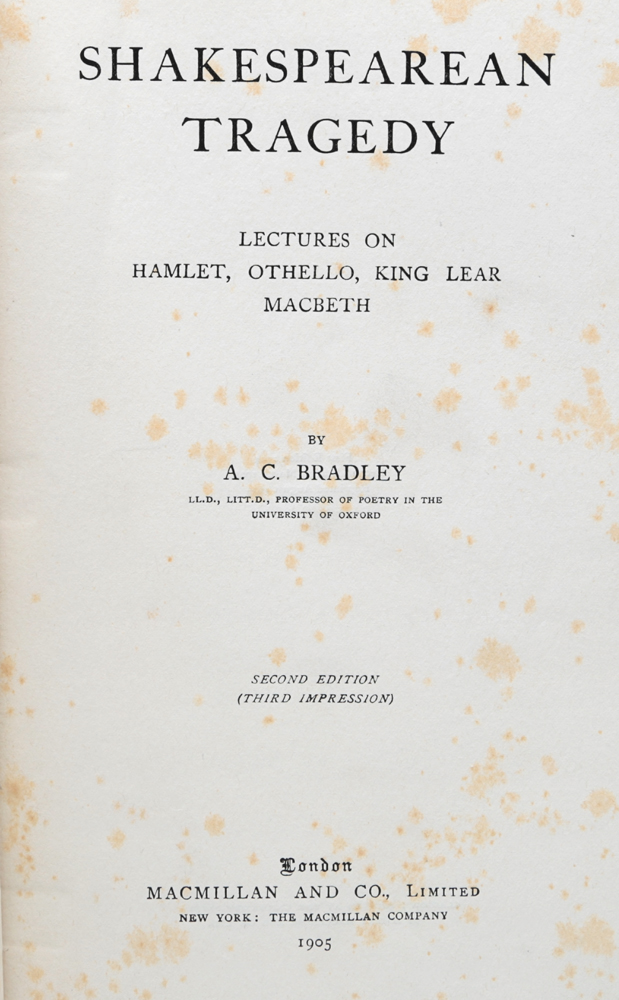 ac bradley essay on macbeth Why should we teach shakespeare english language essay ac bradley's character he chose macbeth and henry v instead of the full of violence and hatred.