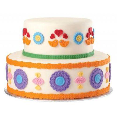 Как нанести рисунок на торт с мастикой