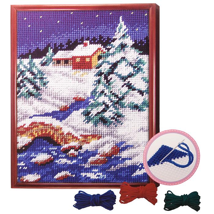 Вышивка крестом зимний вечер схема 571