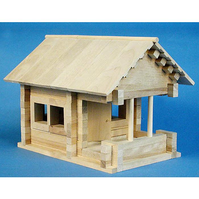 Деревянные поделки домики 23