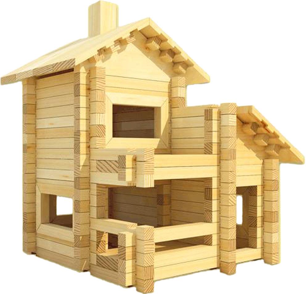 Деревянный конструктор домик