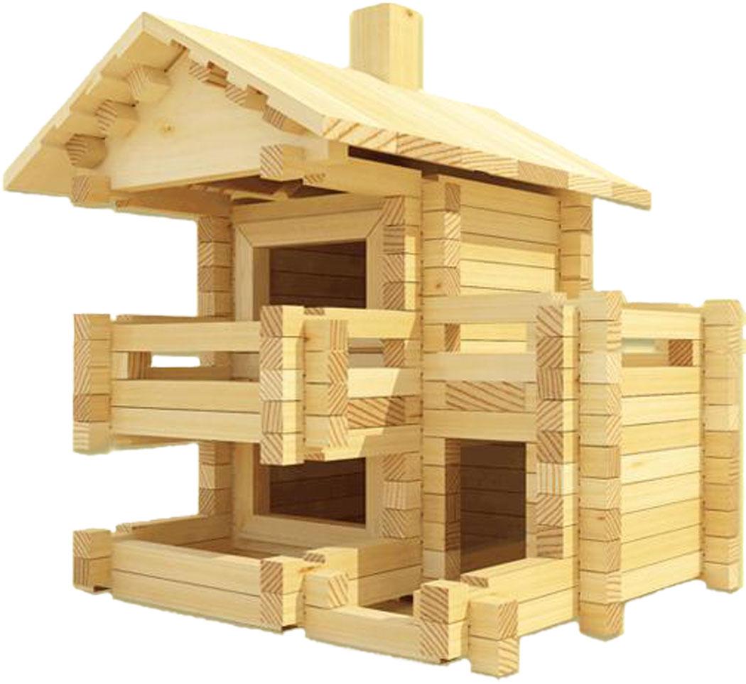 Деревянный дом конструктор для детей