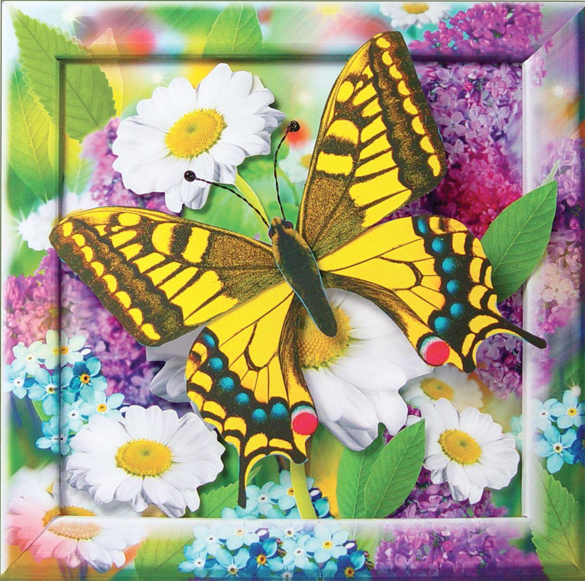 Поделка из цветов и бабочек своими руками